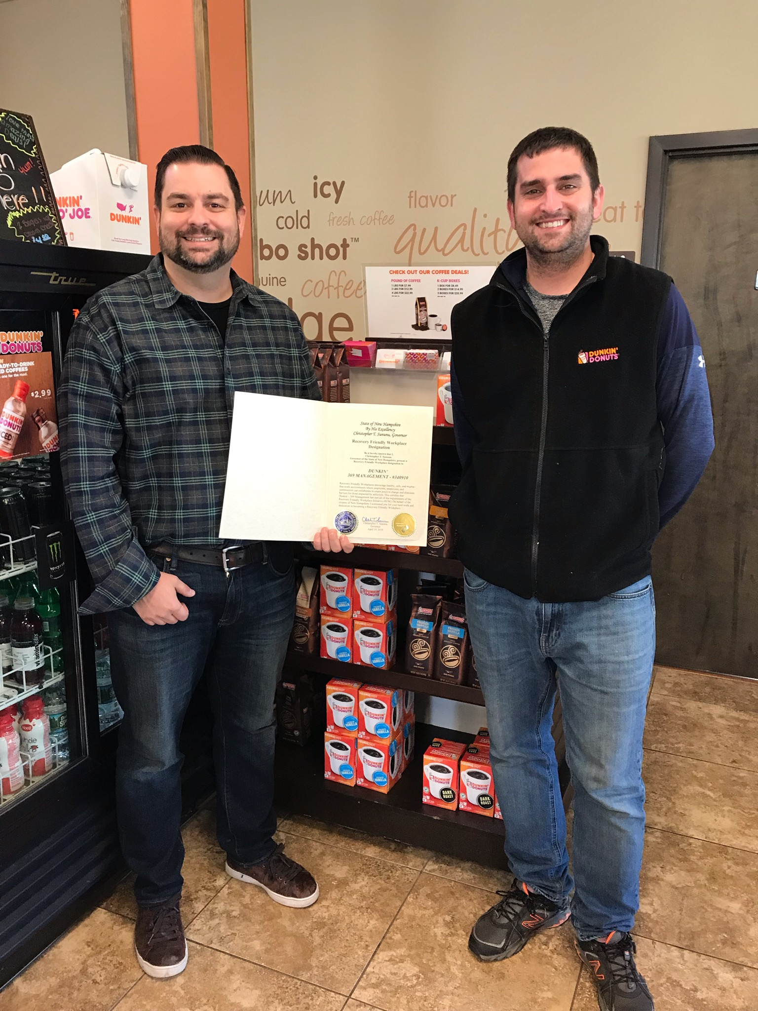 369 Management DBA Dunkin' receives RFW designation