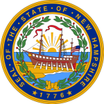 Seal of the State of New Hampshire.