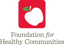 Red Square Logo with White Apple