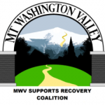 Mt Washington Valley Supports Recovery Coalition, Path with Mtns in the background