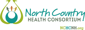 Logo with people holding hands and text that reads North Country Health Consortium