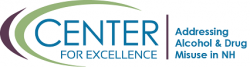 Center for Excellence Logo, Addressing Alcohol & Drug Misuse in NH