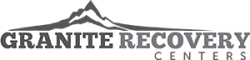 Granite Recovery Centers Logo, Grey with Mountain Graphic in Background