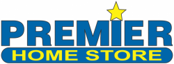 Premier Home Store Logo in blue and yellow